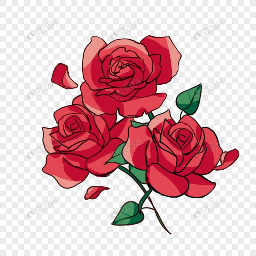 手描きのバラの花びらのイラスト素材イメージグラフィックス Id