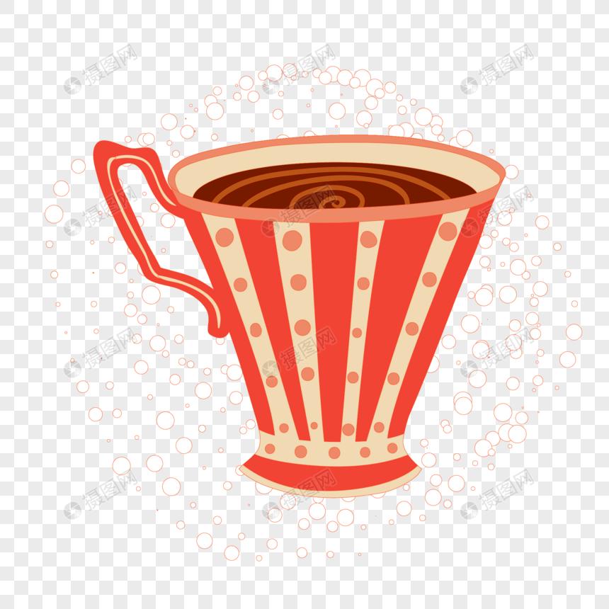 cangkir teh polka dot merah