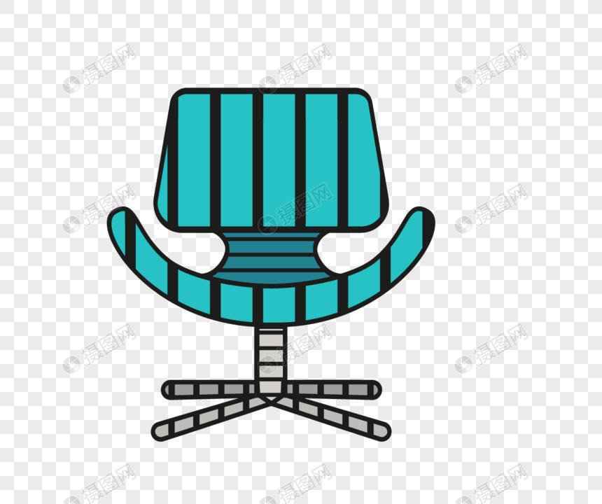 Multi Color Chair Sofa Illustration Design Material Png