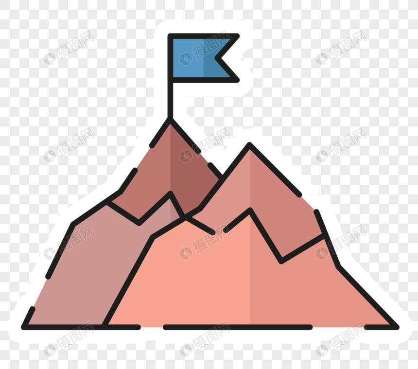 Gaya Kartun Simbol Gunung Gambar Unduh Gratisimej 400558963format