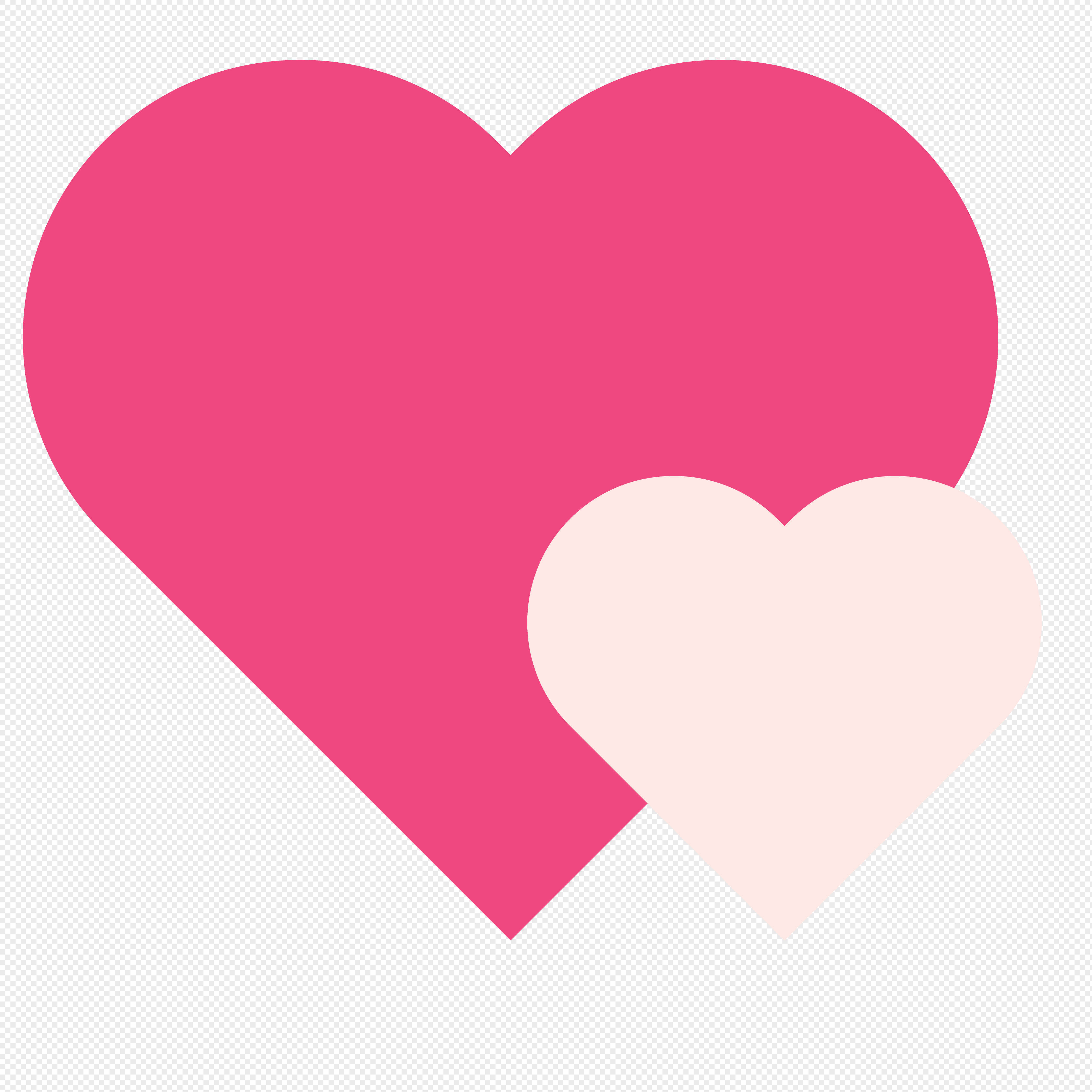 Valentines Day Double Heart Shaped Icon Png Image Picture Free