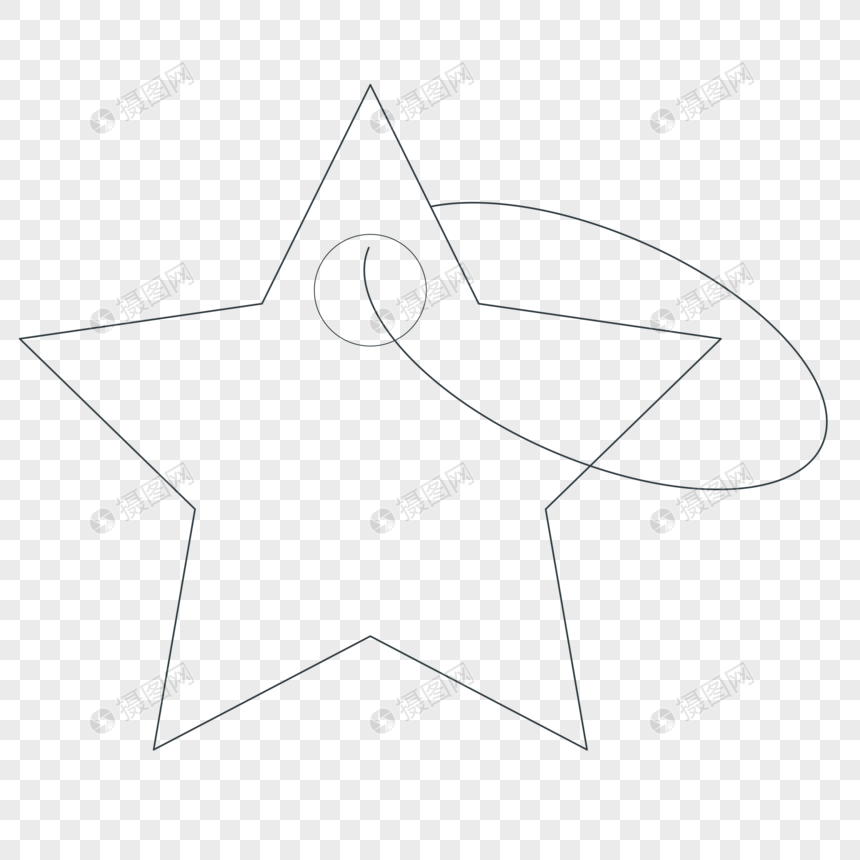 Liontin Bintang Sketsa Yang Dilukis Dengan Tangan Gambar Unduh