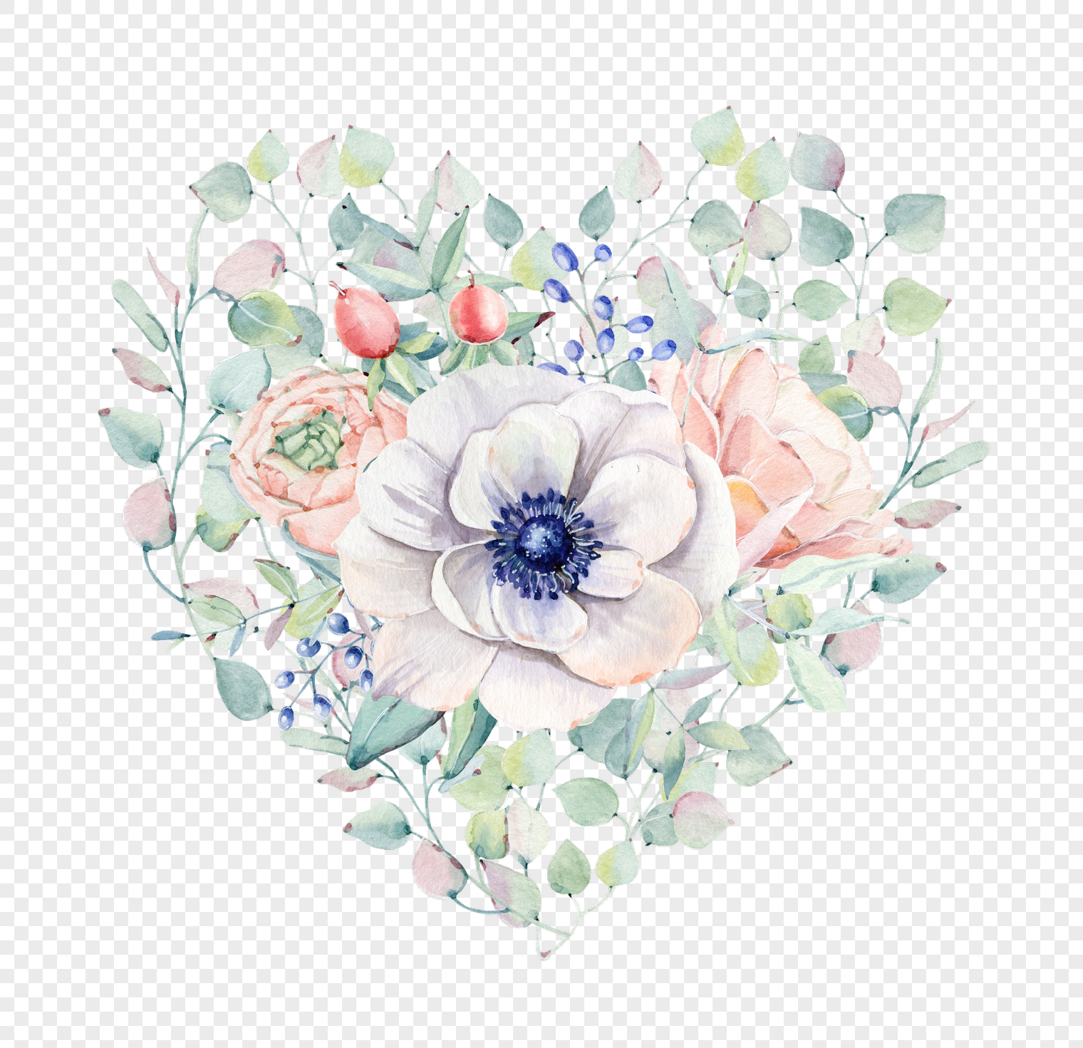 Hand Painted Simple White Flowers Png Imagepicture Free Download