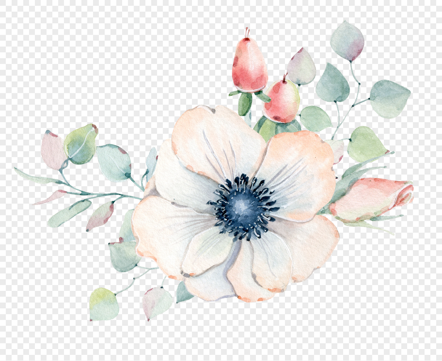 Hand painted simple white flowers png imagepicture free download hand painted simple white flowers mightylinksfo