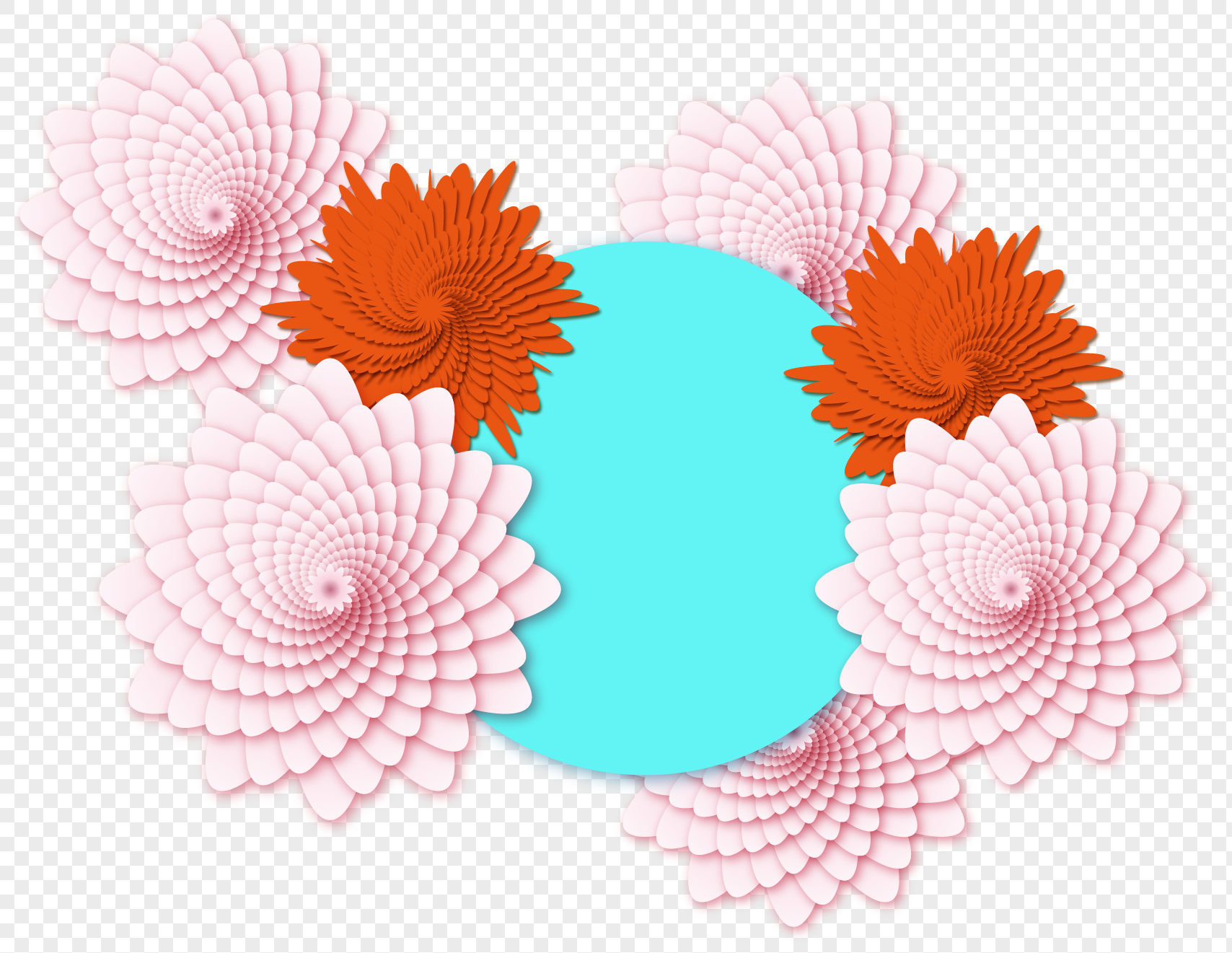 Creative Paper Cut Flowers Png Imagepicture Free Download