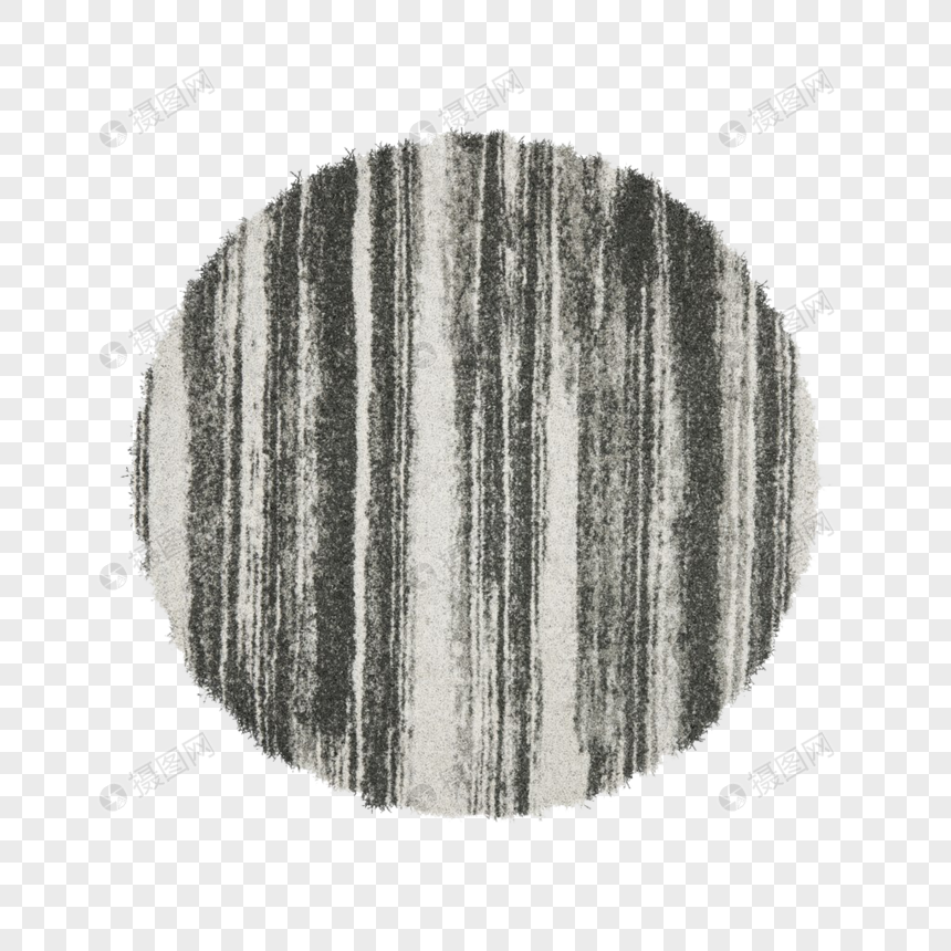 Striped carpet with black and white
