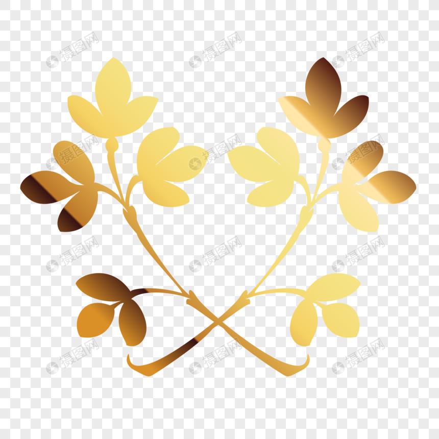 caaa7b4adaf7 Золотая веточка цветочная рамка изображение_Фото номер 400604947_PNG ...