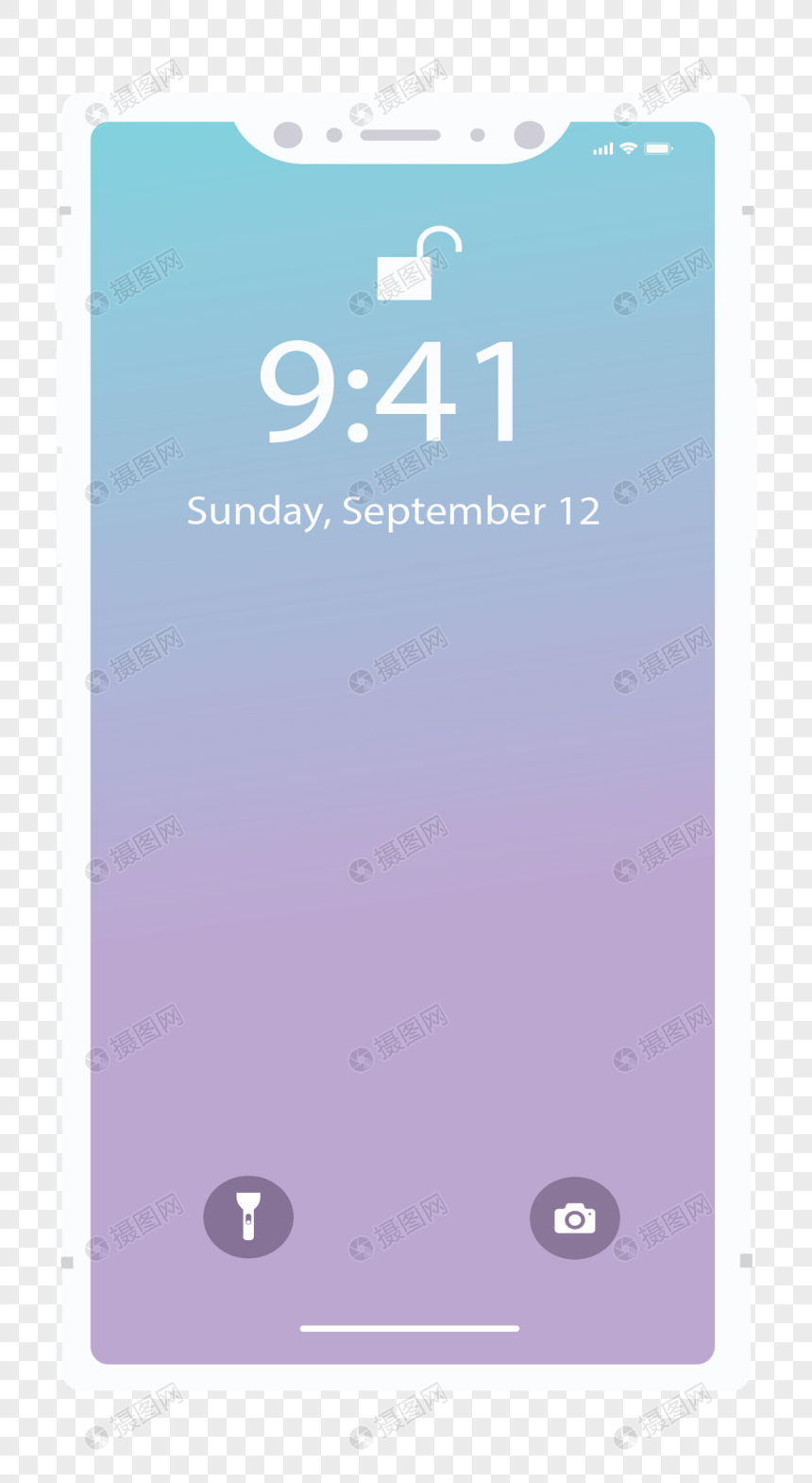 Apple mobile phone with white frame png image_picture free