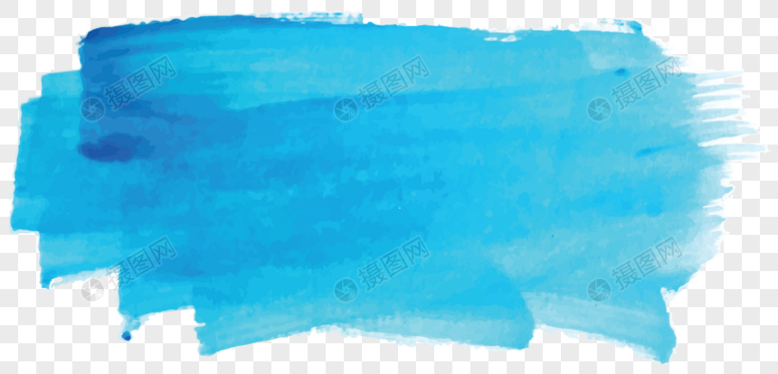 blue watercolor graffiti brush png