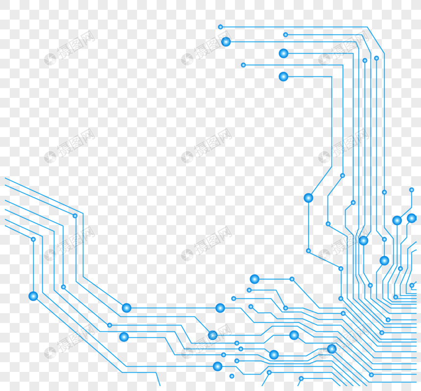 Hand painted blue technology texture png image_picture free download