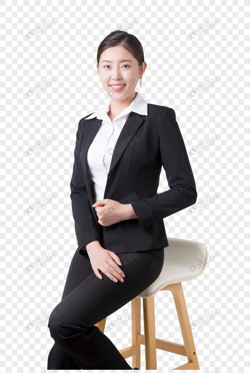 Wanita Bisnis Duduk Di Kursi Png Grafik Gambar Unduh Gratis Lovepik