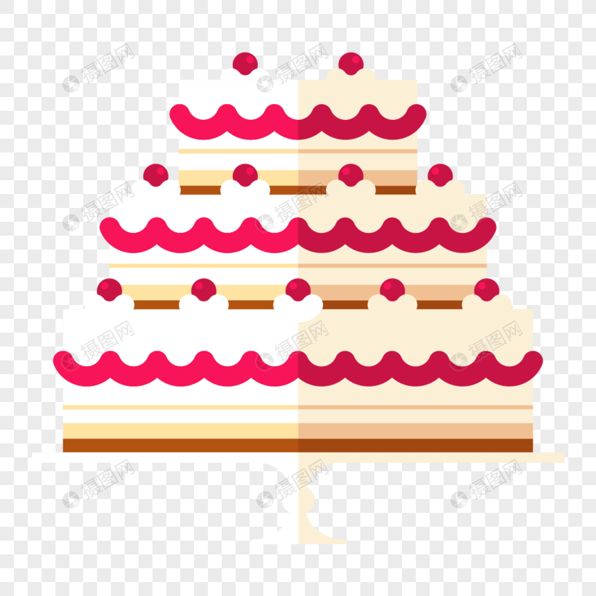 Flat Birthday Cake Design Material Png Image Picture Free Download