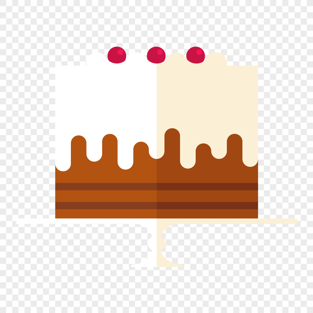 Flat Birthday Cake Design Material Png Imagepicture Free Download