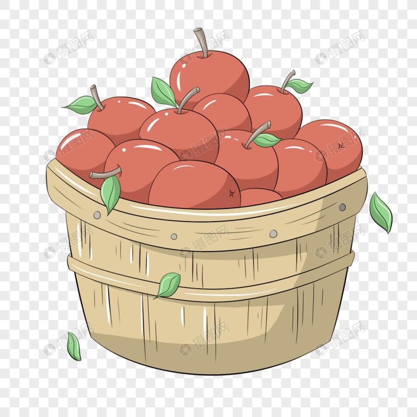 Hand Getrokken Herfst Fruitmand Gratis Afbeeldingdownloaden