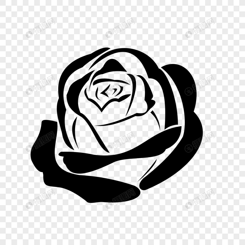 Line Drawing Roses Png Image Picture Free Download 400630341 Lovepik Com