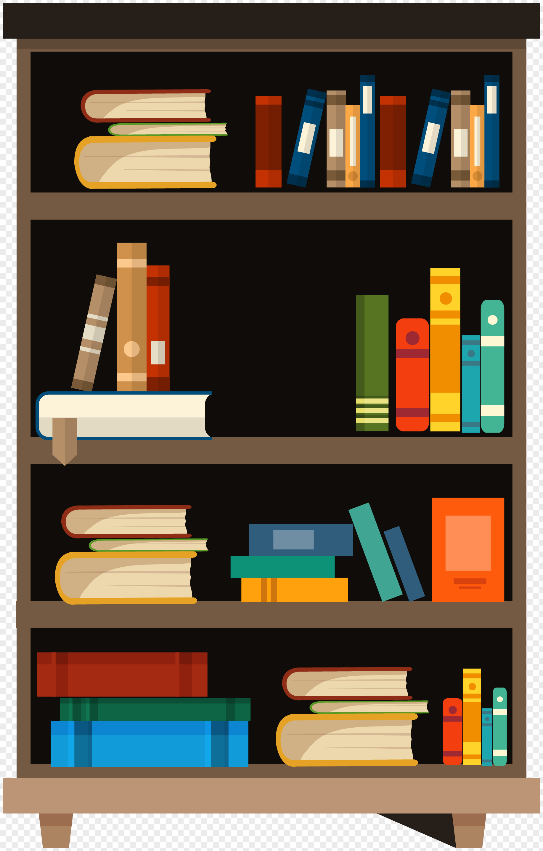 Cartoon Handwriting Bookshelf Png Image Picture Free Download