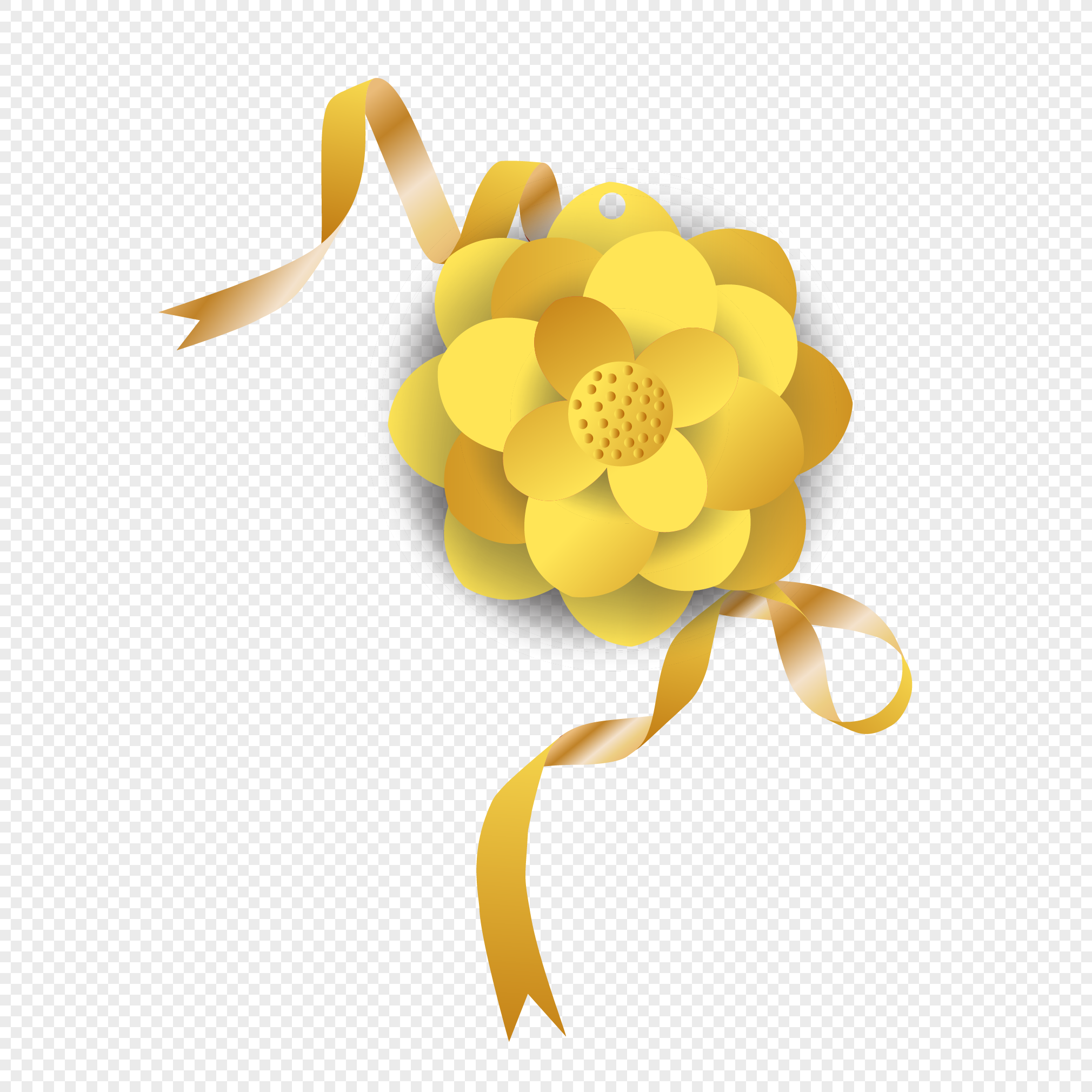 Yellow Flower Paper Cutting Png Imagepicture Free Download