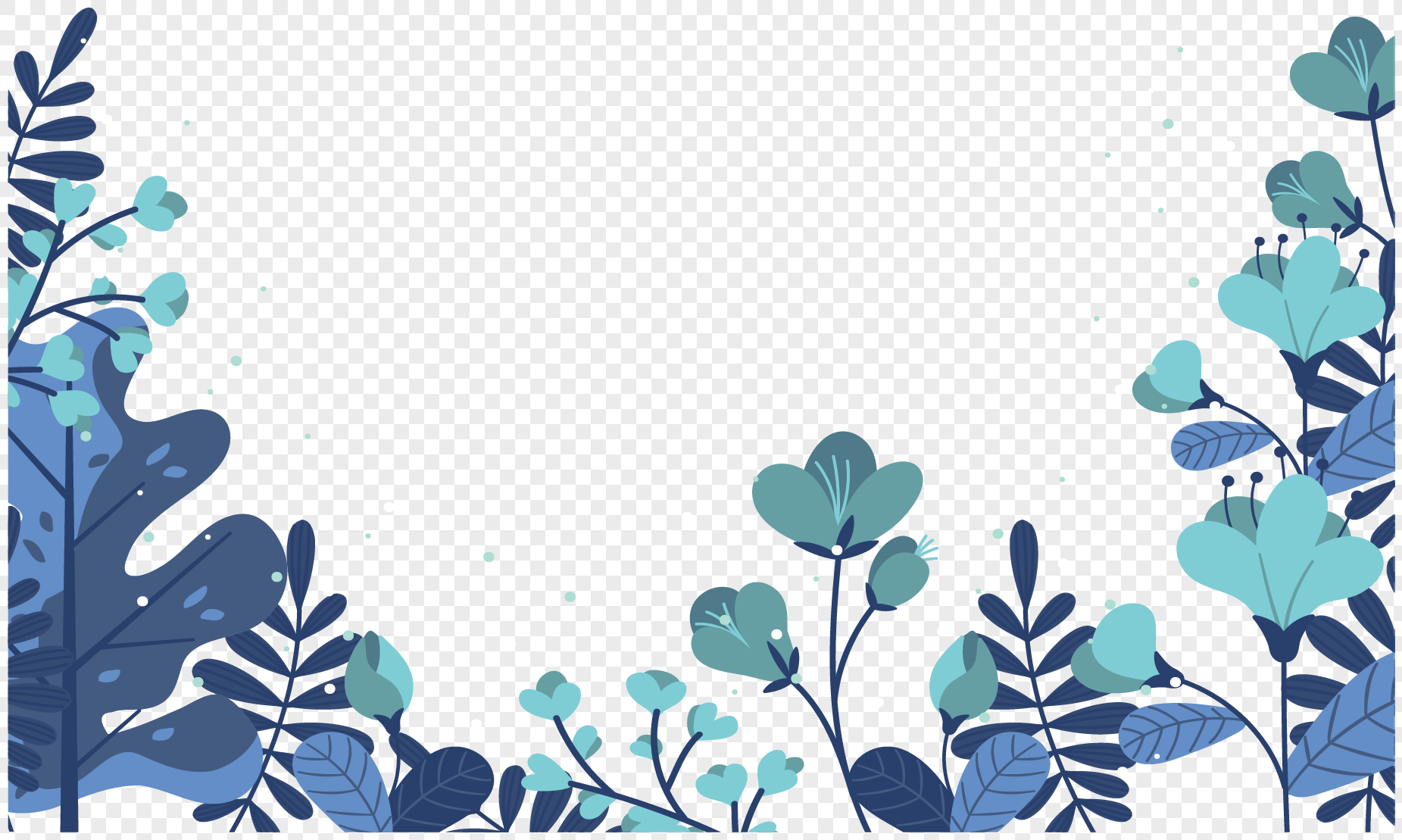 blue leaves flowers and flowers png image picture free download