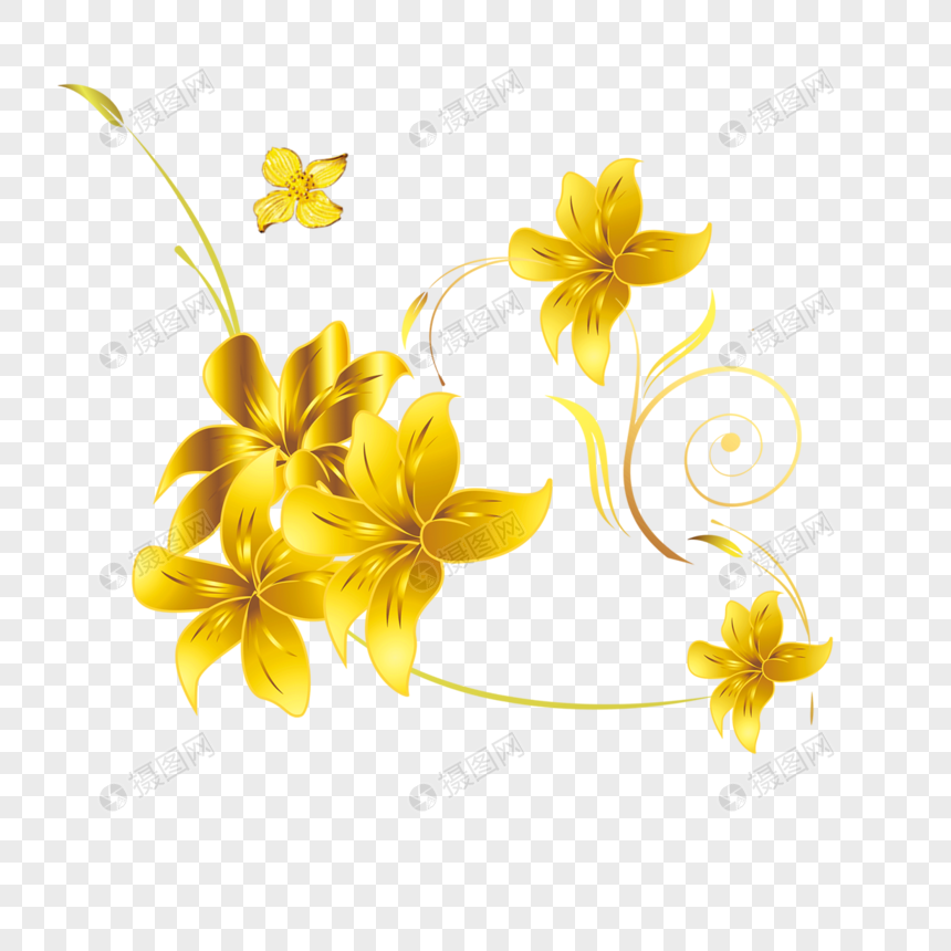 91+ Gambar Bunga Emas Paling Bagus
