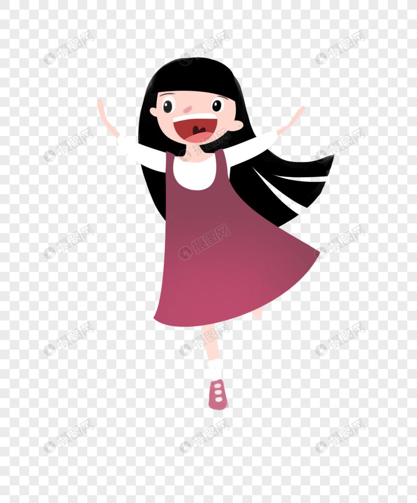 Kartun Anak Perempuan PNG Grafik Gambar Unduh Gratis Lovepik
