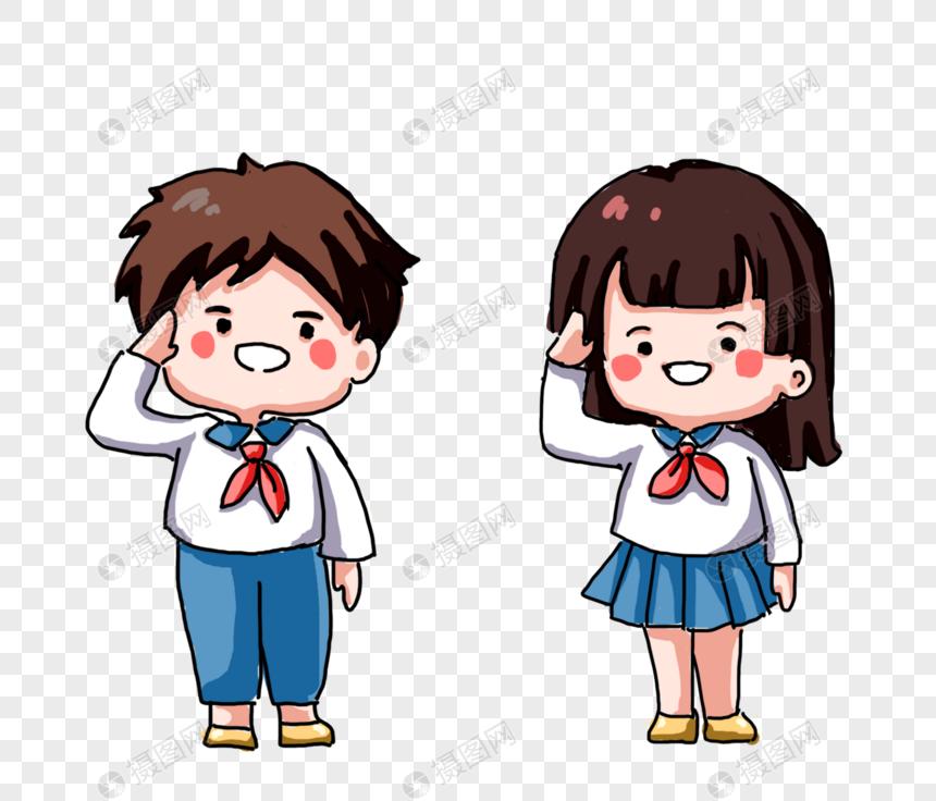 salute pupil cartoon png