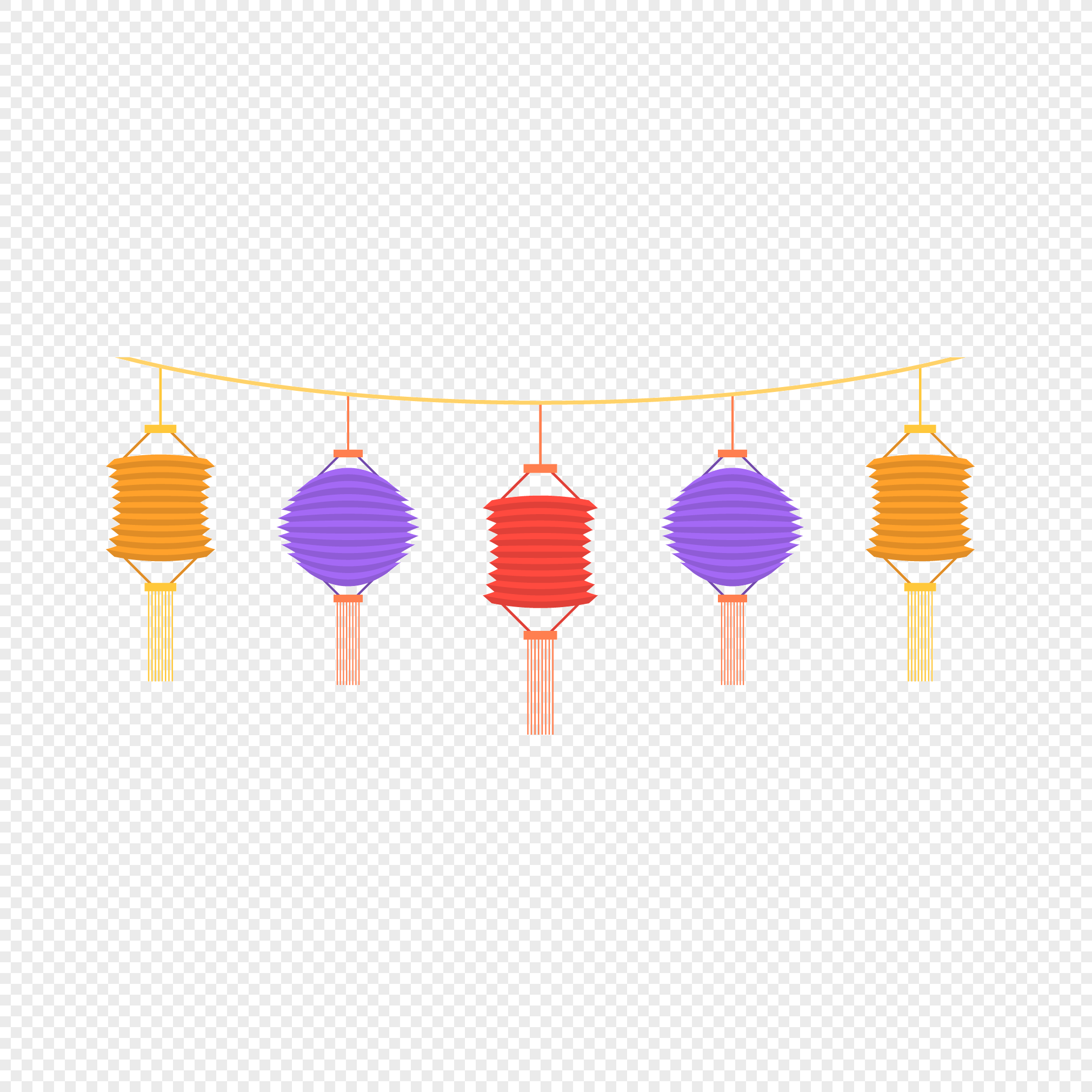 A Row Of Origami Lanterns Png Imagepicture Free Download