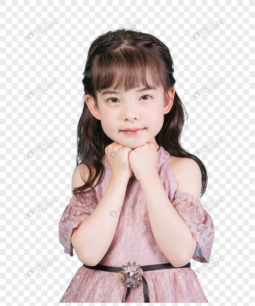 Potret Gadis Kecil Anak Yang Lucu PNG Grafik Gambar Unduh