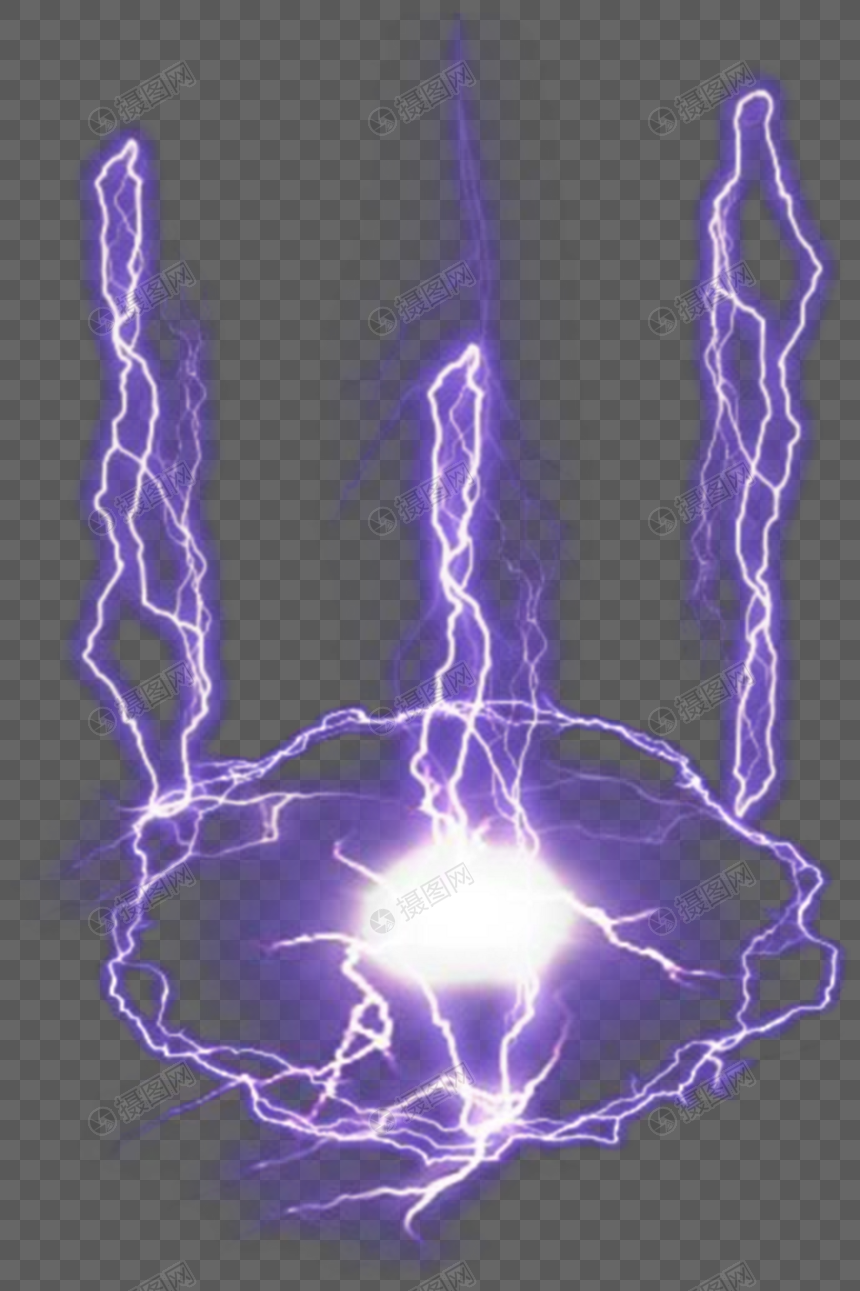 Purple lightning effects png image_picture free download