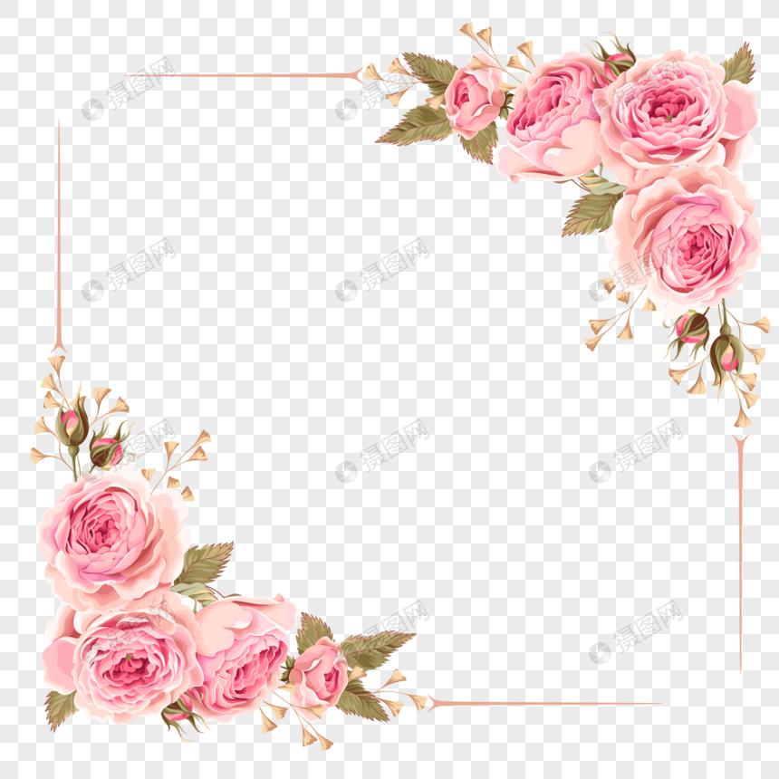 rose border png