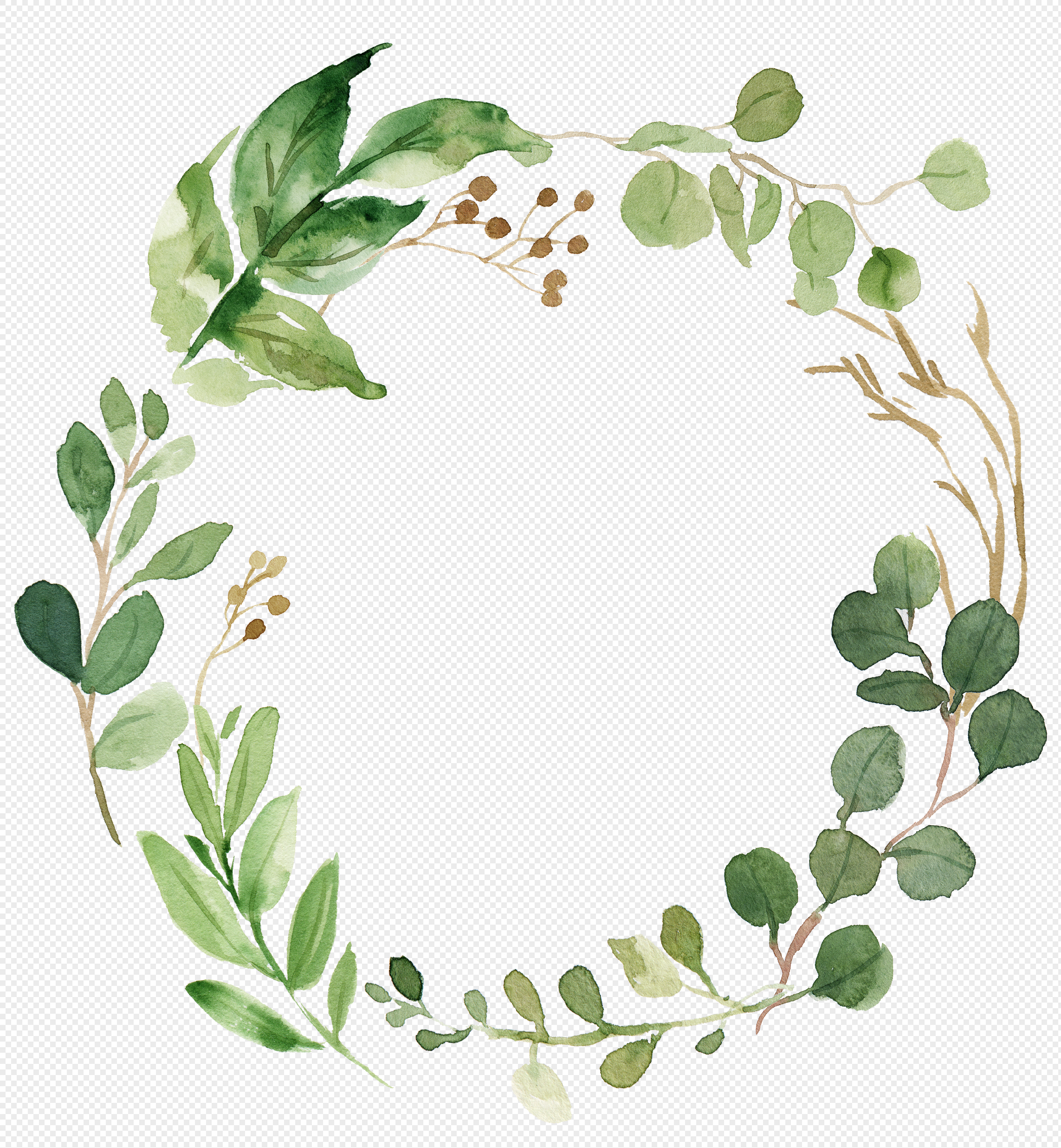 watercolor wreath png image picture free download