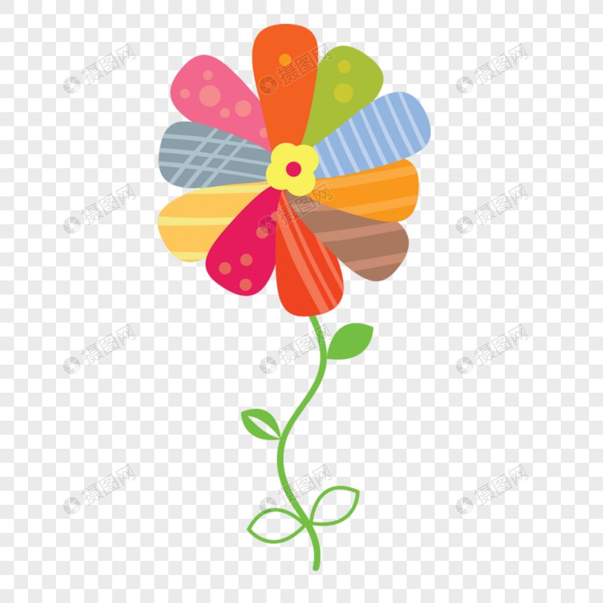 Flores De Colores De Dibujos Animados Imagen Descargar Prf Graficos