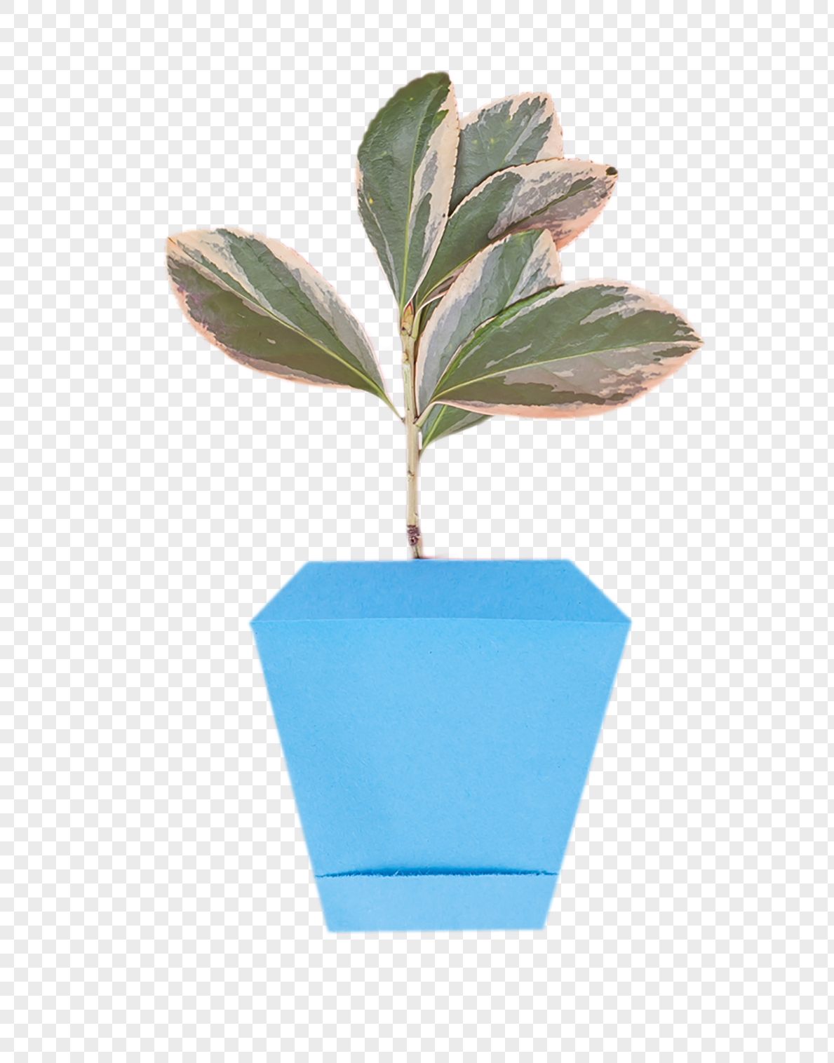 Fresh Origami Flower Pot Foliage Creative Pendulum Png Imagepicture