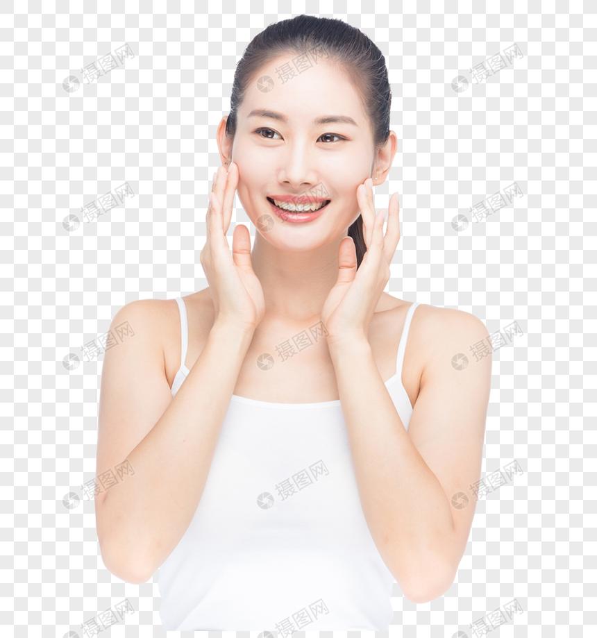 美女美容護膚動作 png