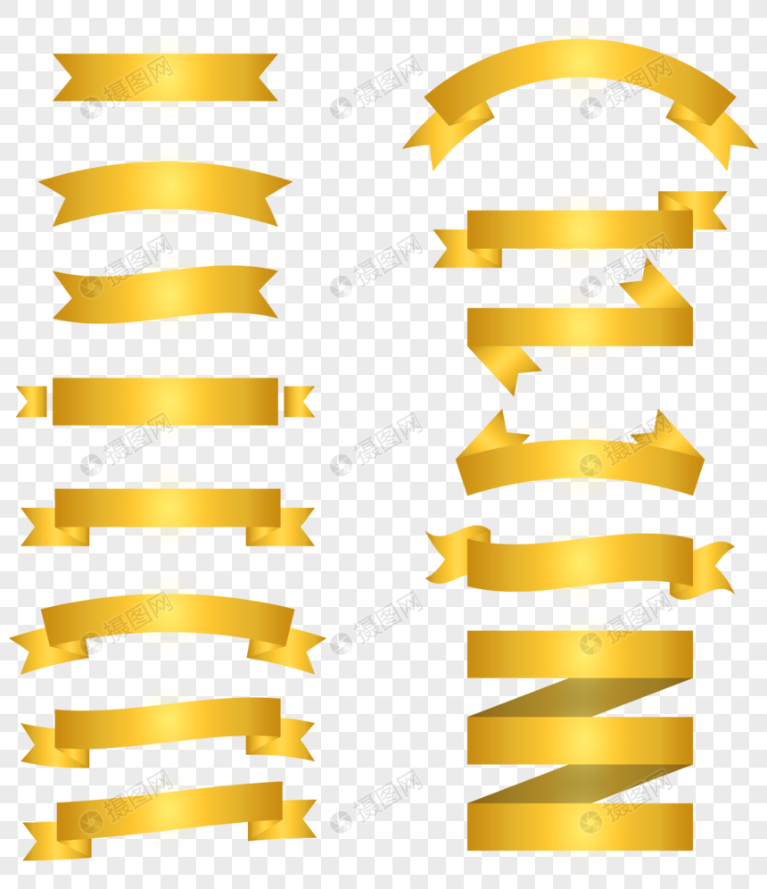 Gold Ribbon With Title Frame Decoration Png Imagepicture Free