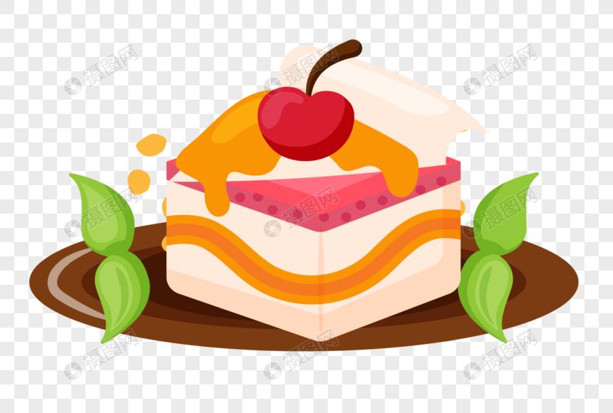 Pastel De Dibujos Animados Dibujados A Mano Imagen Descargarprf