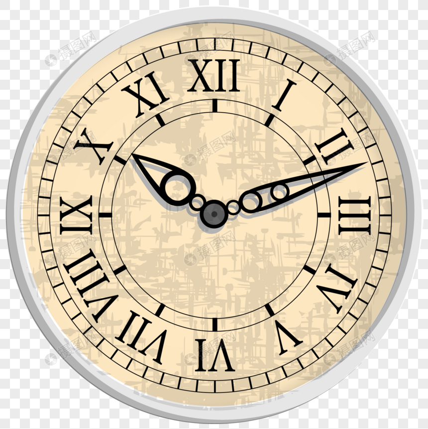 Retro rome digital clock dial png image_picture free