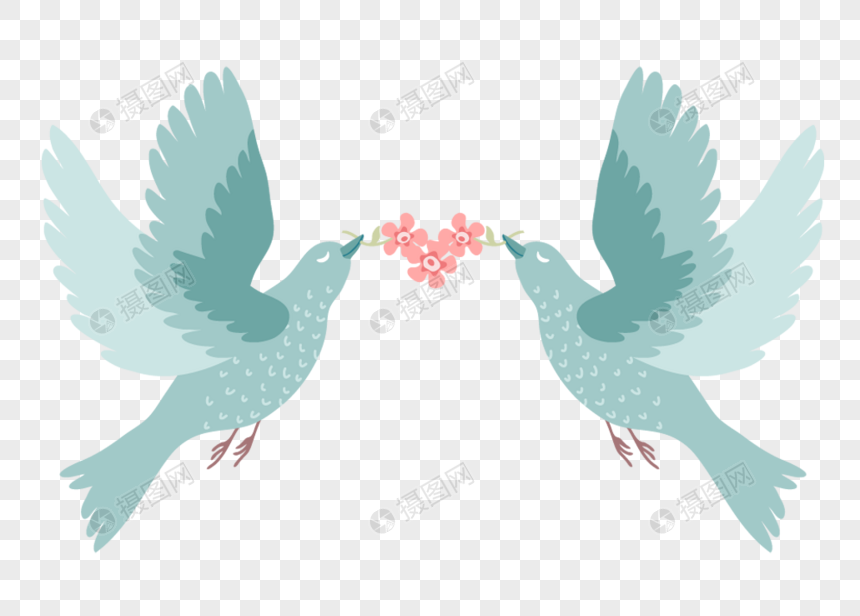 Love birds wedding flowers png image_picture free download