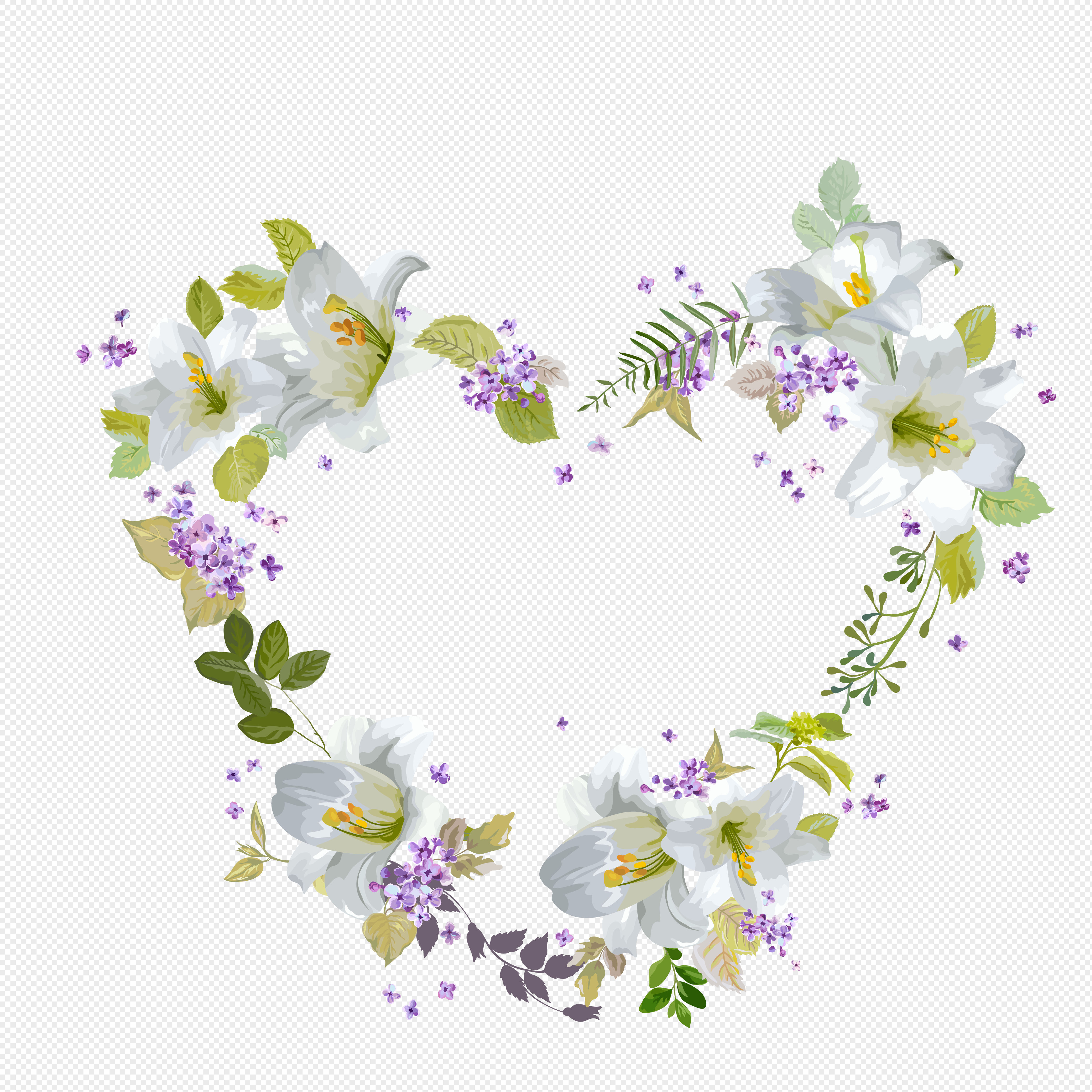 Flor Decorativa En Forma De Corazon Imagen Descargarprf Gráficos