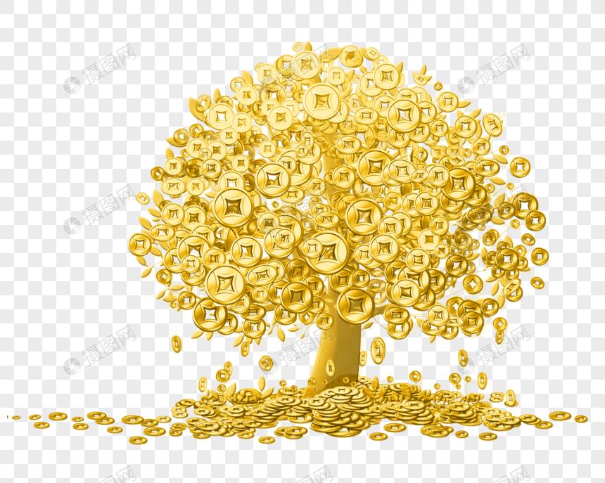 Золотое денежное дерево картинка