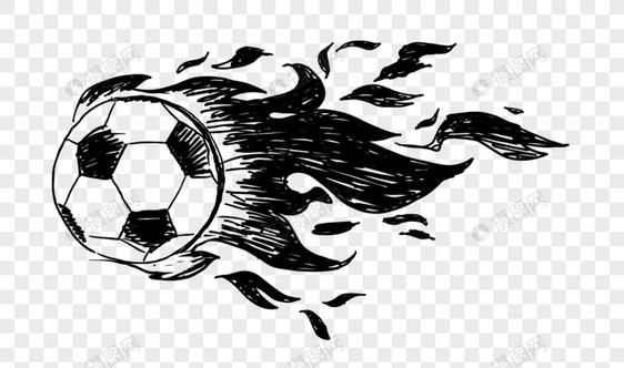 Calcio doodle di cartone animato immagine gratis grafica numero