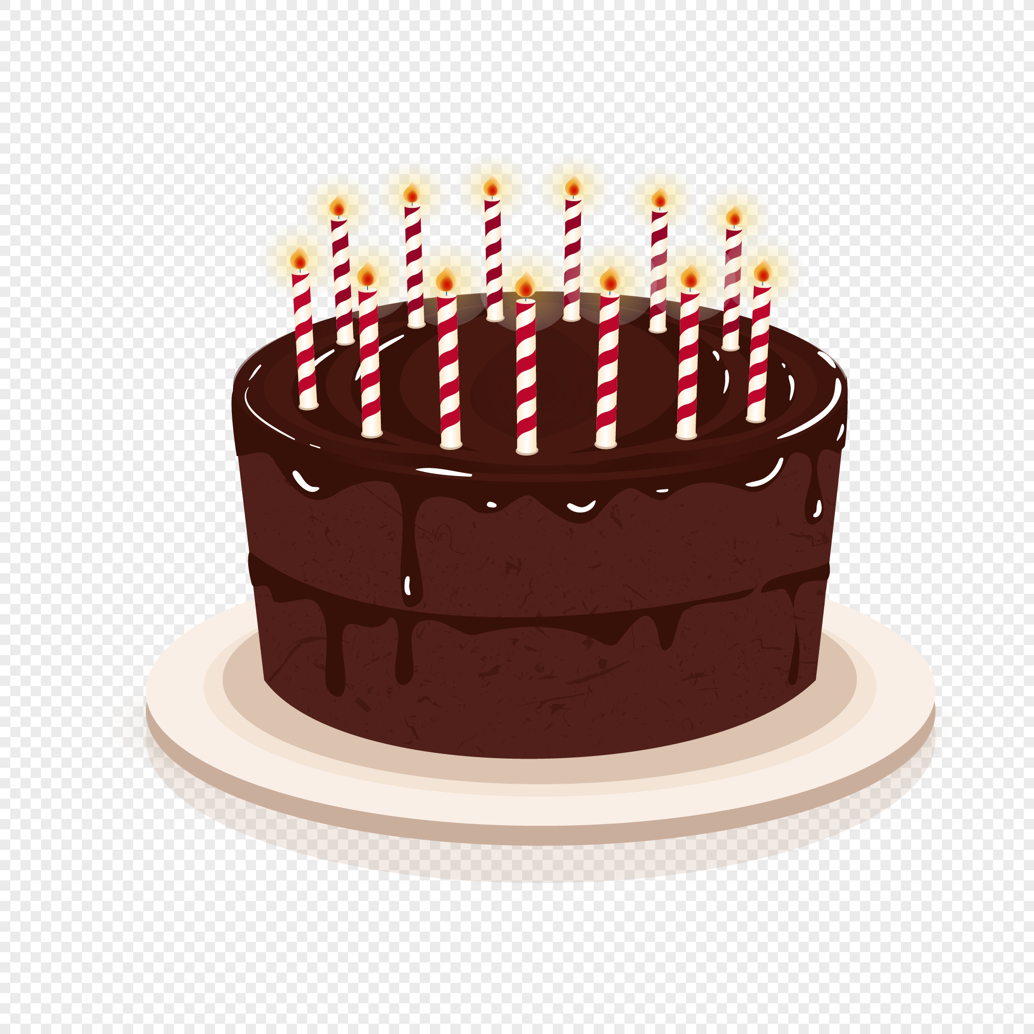 Chocolate Birthday Cake Png Image Picture Free Download