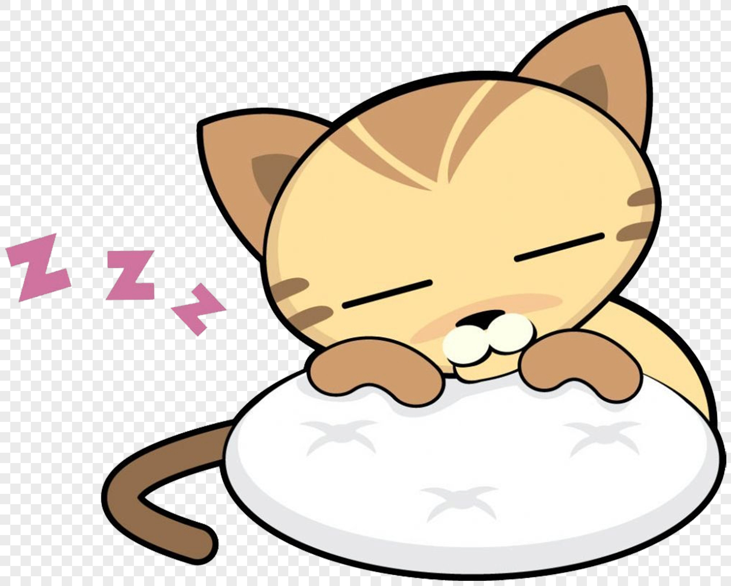 Gambar Kartun Kucing Tidur Wwwtollebildcom