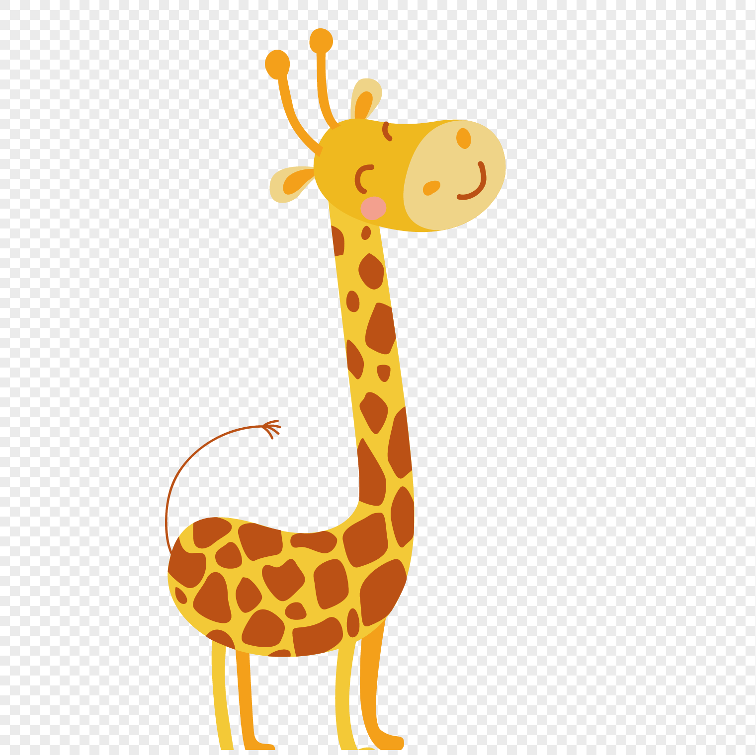 Cute giraffe cartoon png image_picture free download ...