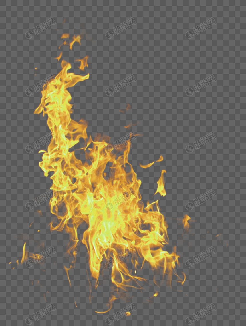 Yellow fresh flame effect element png image_picture free