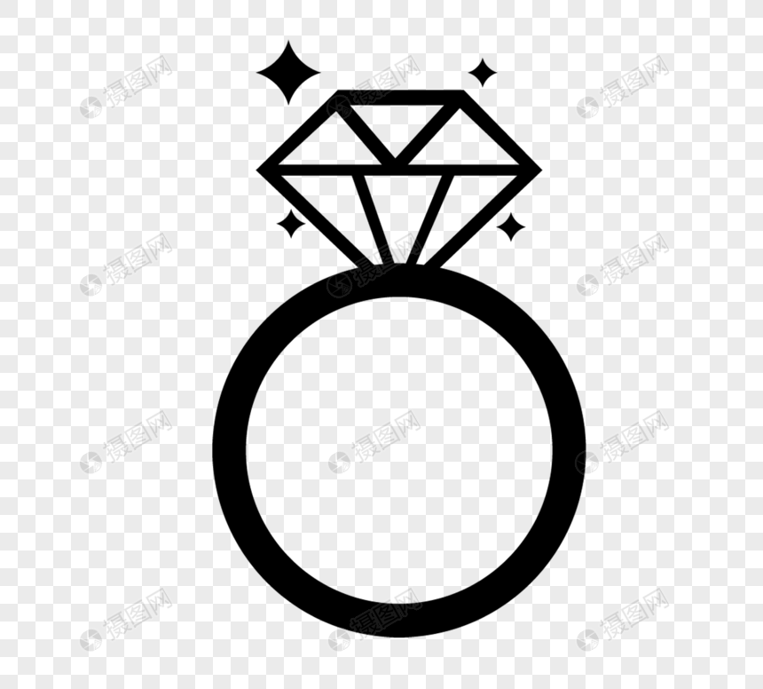 diamond ring silhouette png imagepicture free download