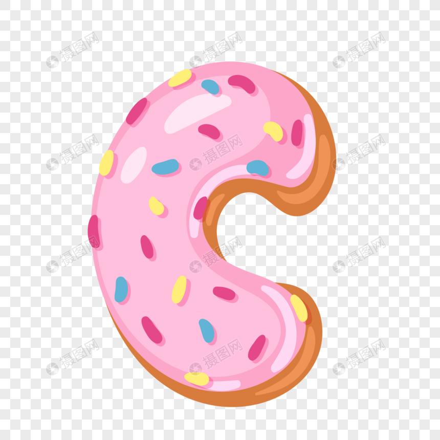 donut english alphabet c png