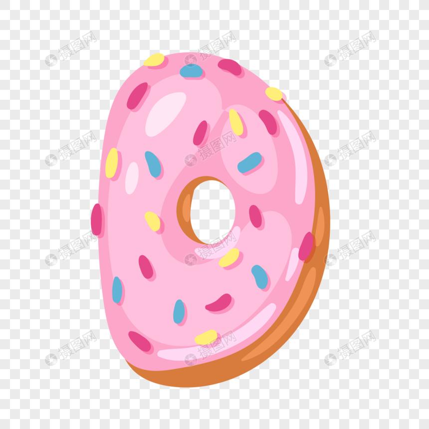 donut english alphabet d png