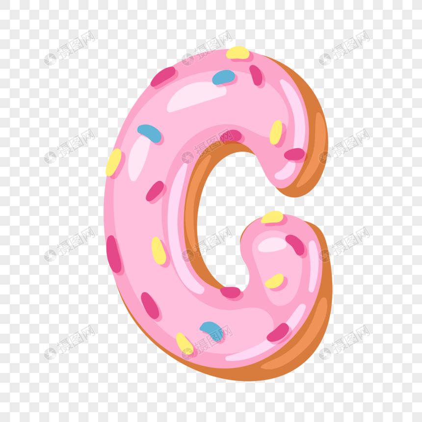 donut english alphabet g png
