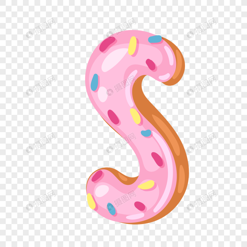 donut english alphabet s png