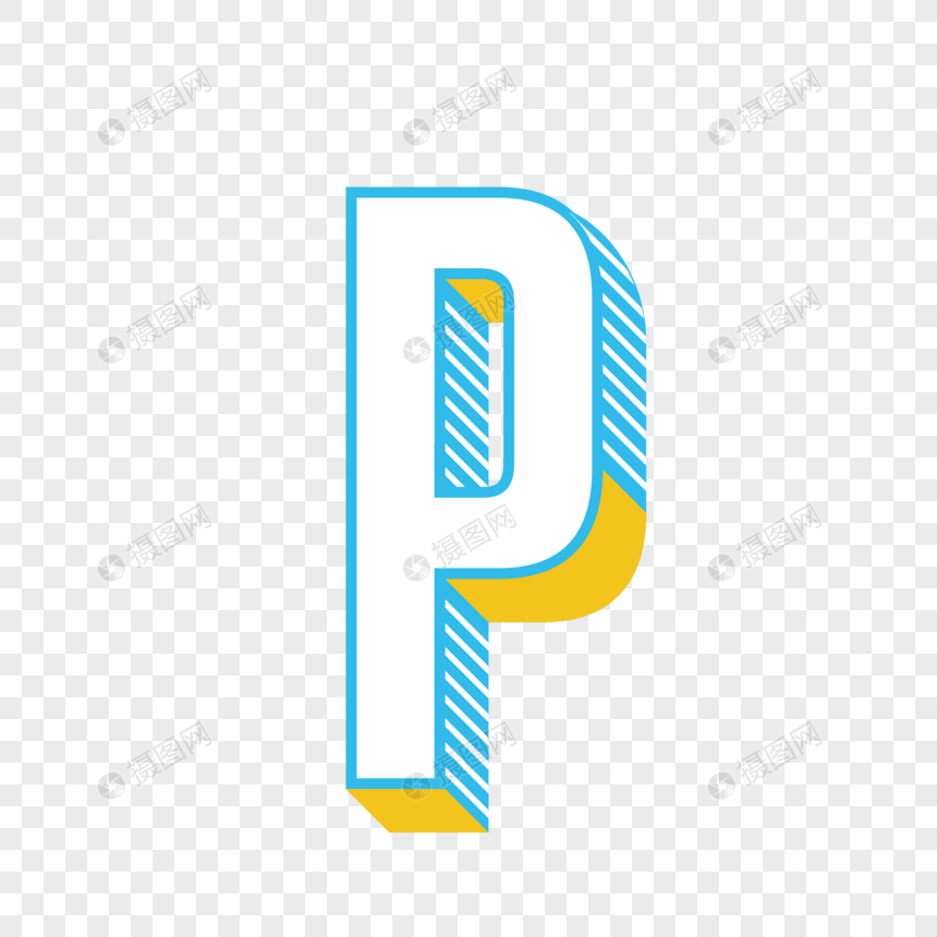 stereo english letter p png